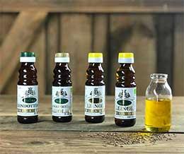 Spreewaldkiste Leinöl, Bio Leinöl, Leindötteröl & Schwarzkümmelöl