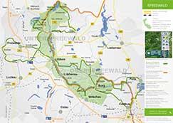 Spreewald Info: Spreewald Karte mit Radwegen