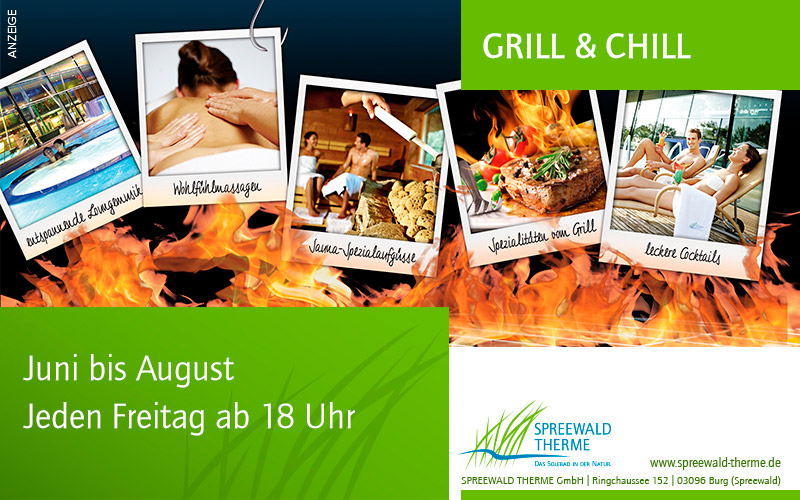 Grill und Chill in der Spreewald Therme