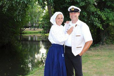 Kahnfährmann Guido mit Frau Antje