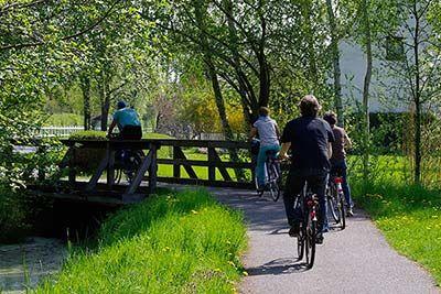 Radfahrer auf dem Gurkenradweg