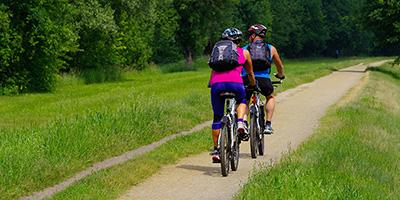 Radfahrer zwischen Lübben und Schlepzig