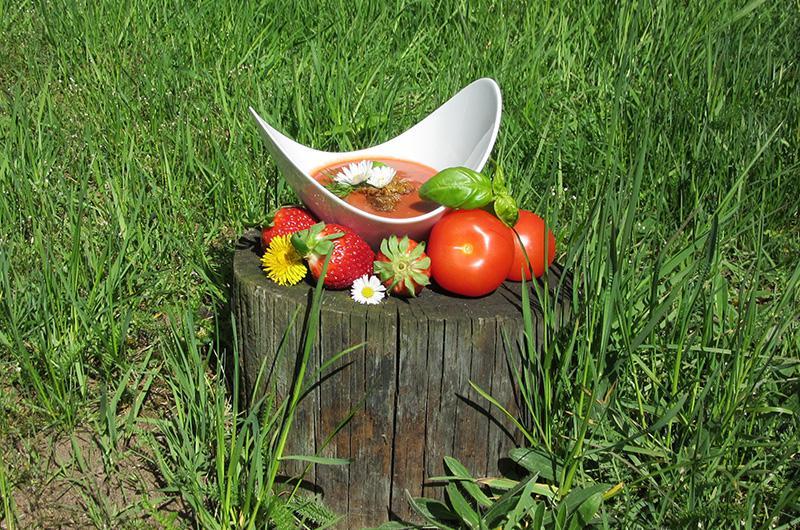 Erdbeer-Tomatensuppe