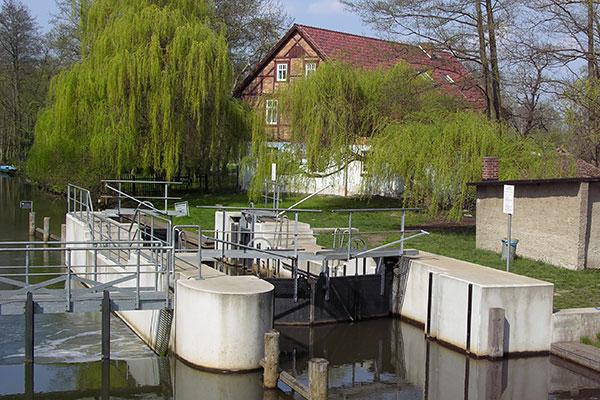 Schleuse an der Dubkow Mühle