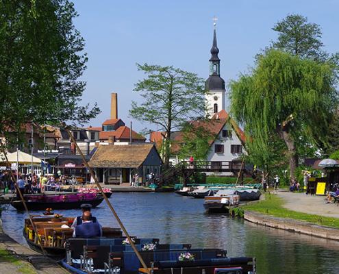 Hafen in Lübbenau Spreewald
