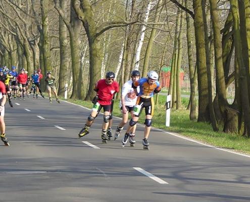Skater zum Spreewaldmarathon