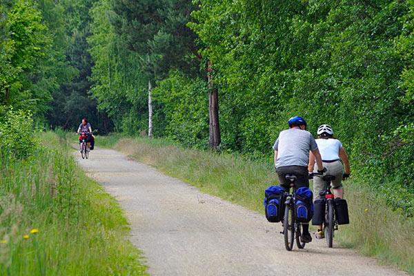 auf Radtour im Spreewald